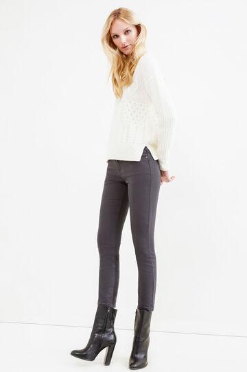 Stretch cropped jeans, Dark Grey, hi-res