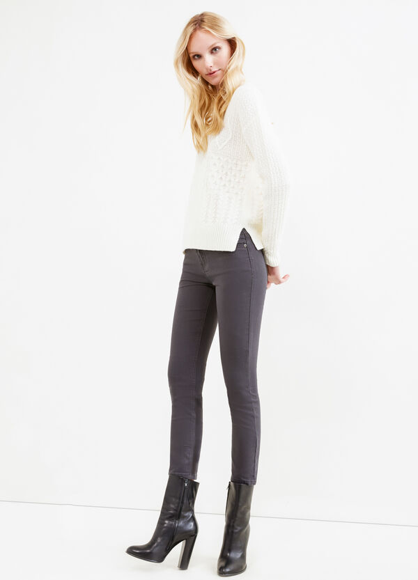 Stretch cropped jeans | OVS