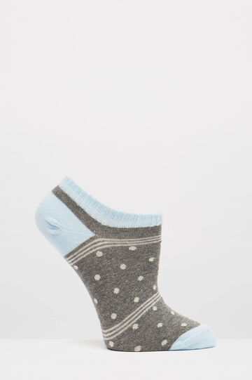 Two-pair pack stretch socks with pattern, Light Blue, hi-res