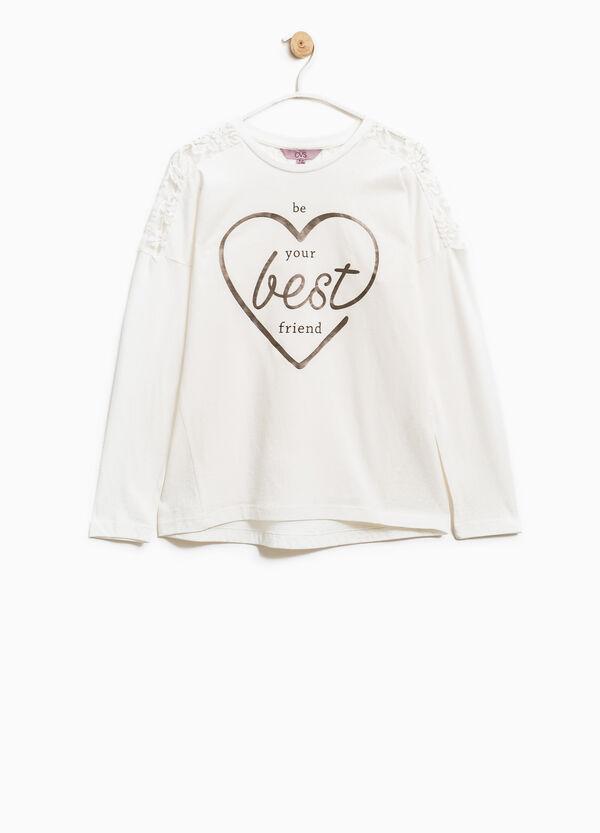 Camiseta en algodón 100% con inserción bordada | OVS