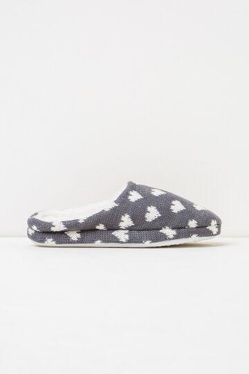Pantofole fantasia a cuori, Bianco/Grigio, hi-res