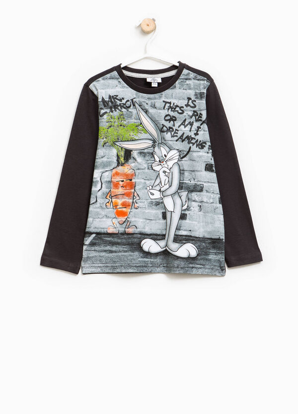 Cotton T-shirt with Bugs Bunny print | OVS