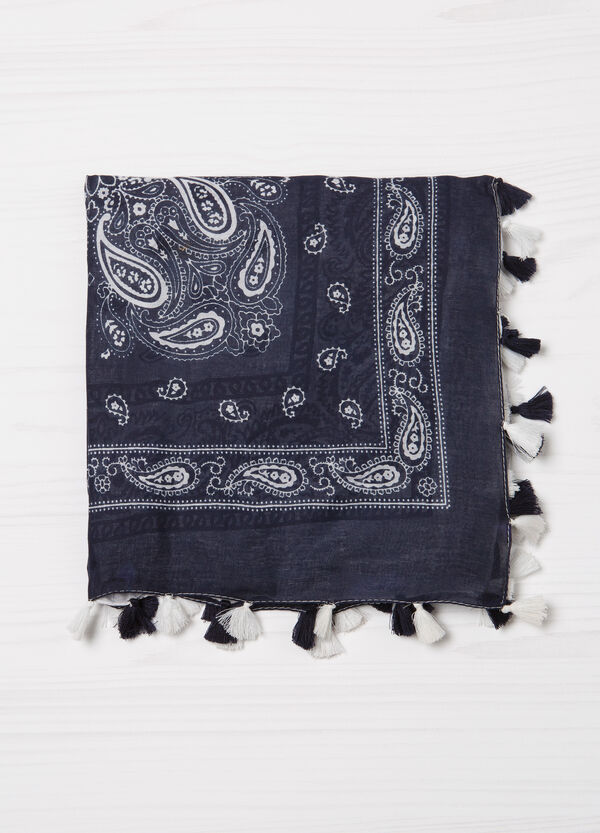 Cotton scarf with paisley pattern | OVS