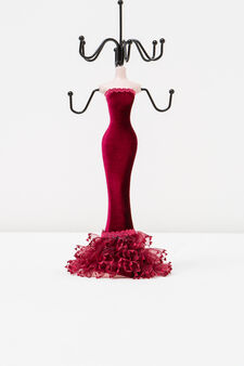 Doll jewellery stand, Red, hi-res