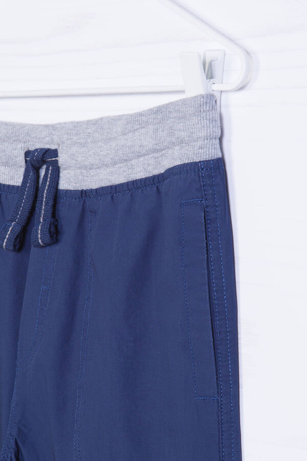 Bermuda shorts in 100% cotton with ribbing | OVS