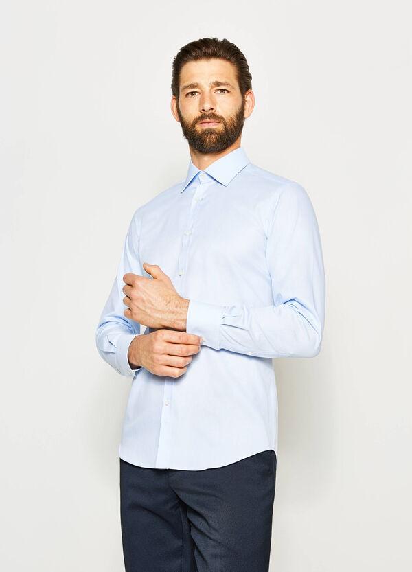Camisa formal slim fit con cuello francés | OVS