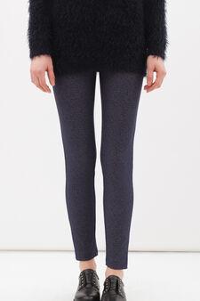 Leggings misto cotone stretch, Blu, hi-res