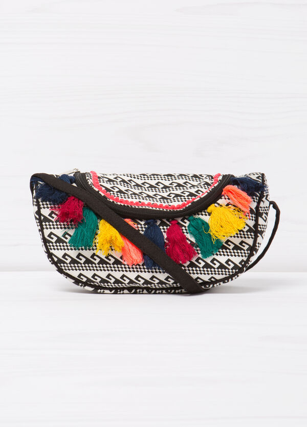 Patterned tassel shoulder bag | OVS