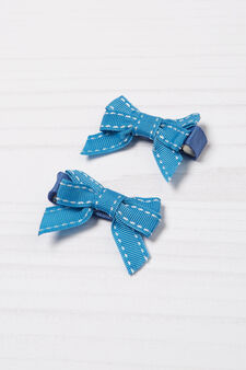 Two-pack hair clips, Blue, hi-res