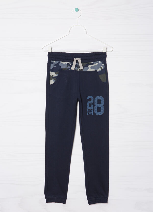 Trousers with lettering print | OVS