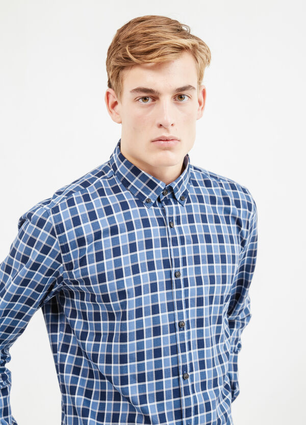 Casual check shirt in cotton | OVS