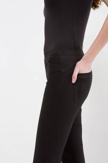 Regular waist jeggings, Black, hi-res