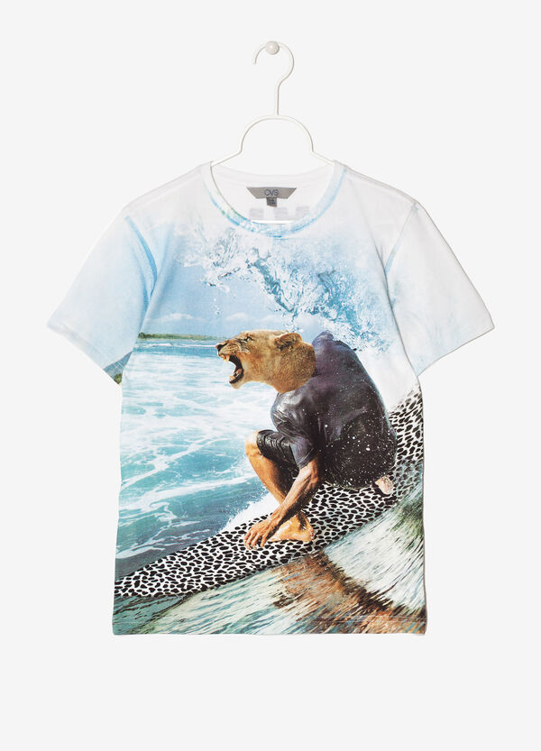 T-shirt con stampa su fronte e retro | OVS