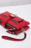 Leather look wallet, Red, hi-res
