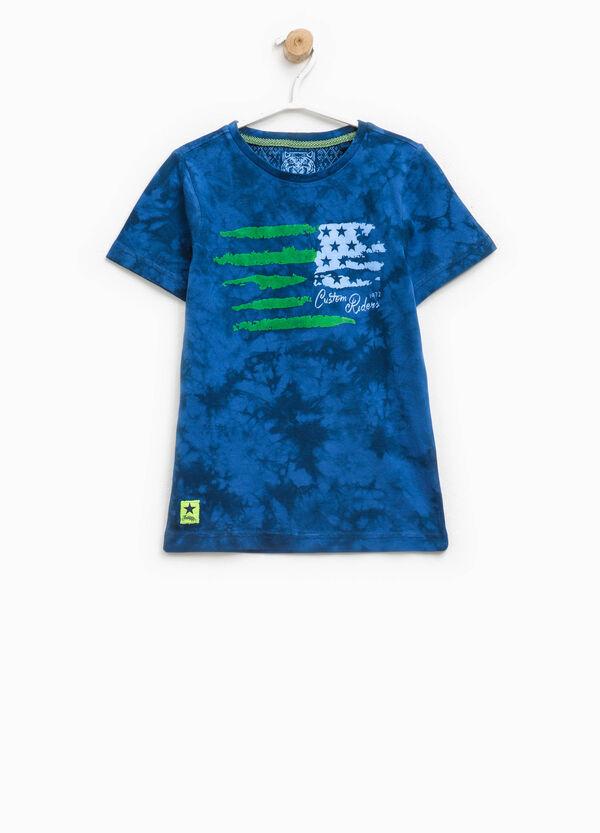 Camiseta en algodón 100% con efecto teñido desigual   OVS