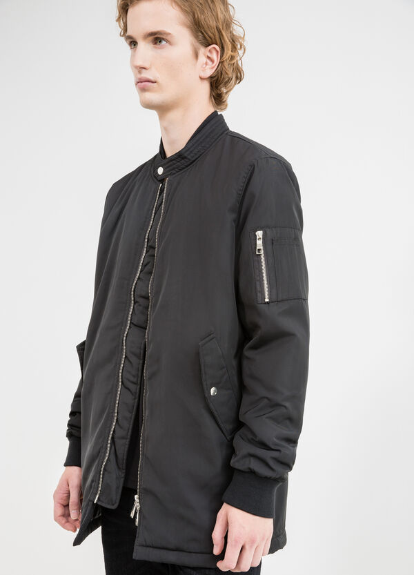 Jacket with zip and snap button | OVS