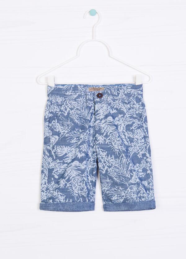 Patterned Bermuda shorts 100% cotton | OVS