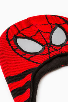 Beanie cap with Spiderman embroidery, Red, hi-res