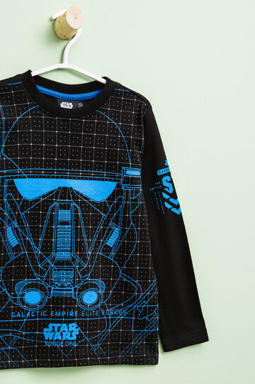 Star Wars maxi print cotton T-shirt, Black, hi-res