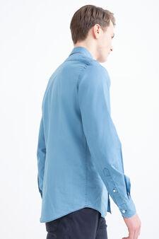 Rumford 100% cotton shirt, Soft Blue, hi-res