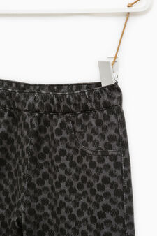 Patterned stretch jeggings, Black, hi-res