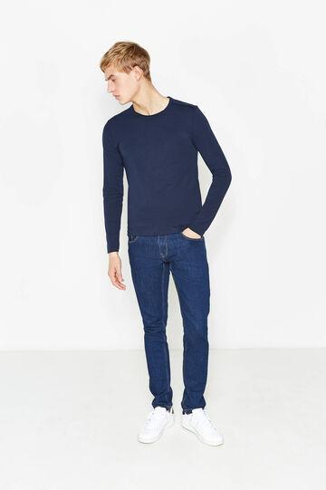 Long-sleeved T-shirt, Navy Blue, hi-res