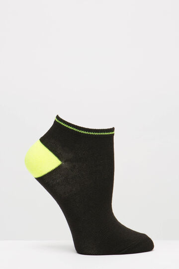 Five-pack solid colour short socks, Multicolour, hi-res