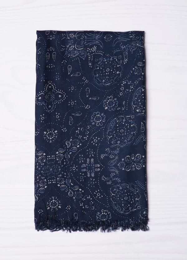 100% viscose printed scarf. | OVS