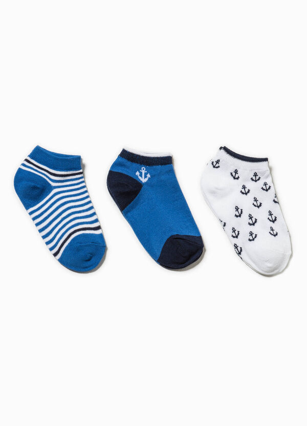 Three-pair pack patterned and embroidered socks | OVS