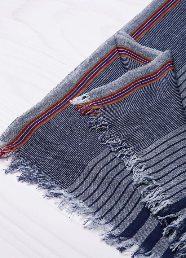 Viscose blend striped scarf. | OVS