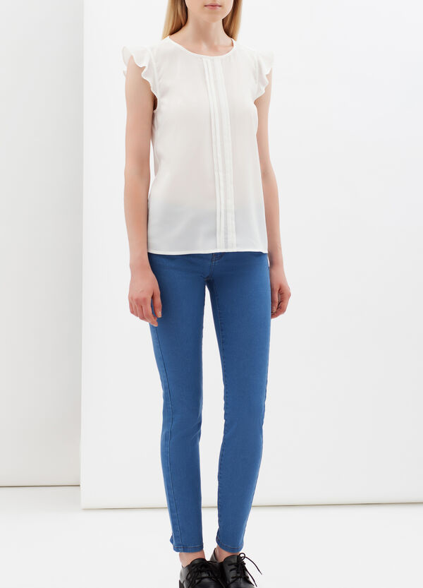 Blouse with teardrop opening | OVS