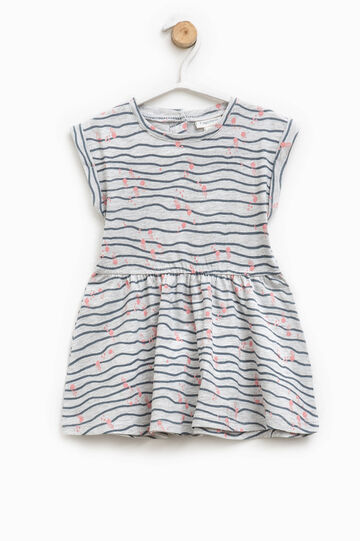 Dress with all-over print