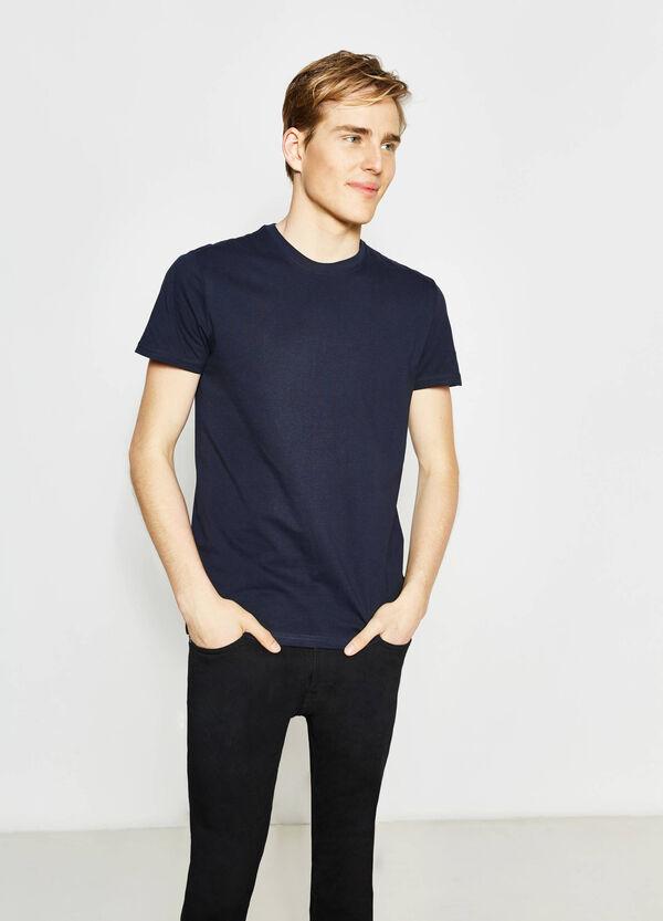 Camiseta de algodón con cuello redondo | OVS