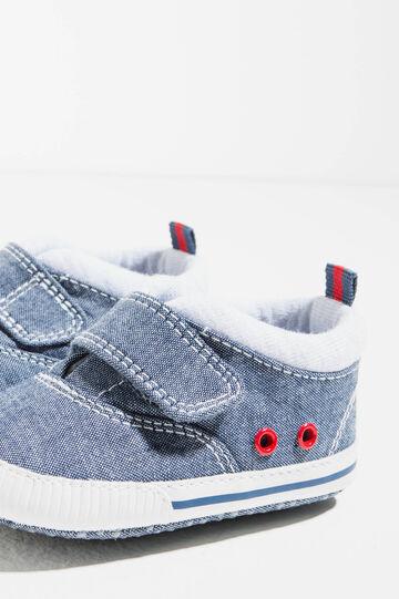 Sneakers con occhielli, Blu denim, hi-res