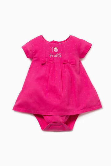 Patterned romper suit with embroidery