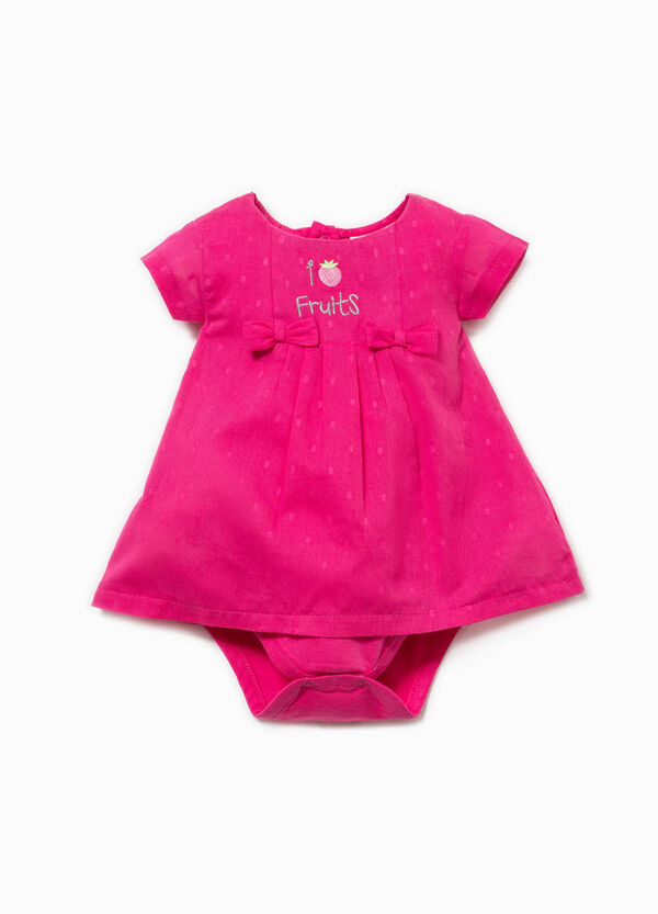 Patterned romper suit with embroidery | OVS