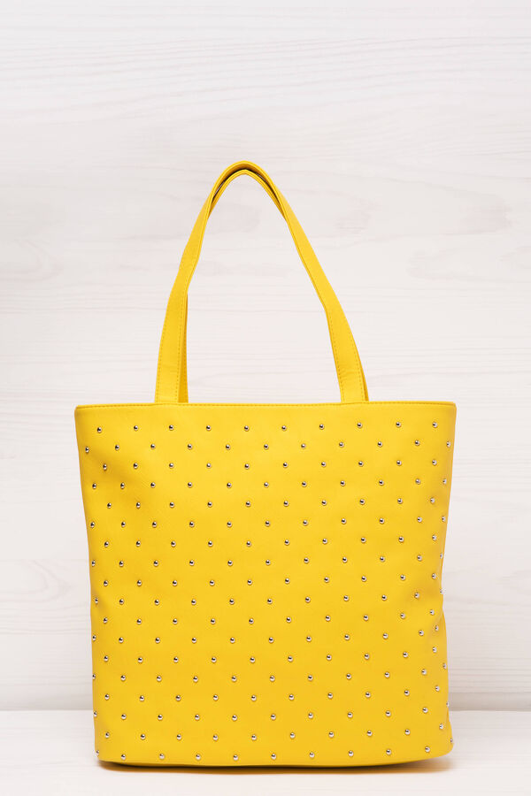 Shopping bag similpelle con borchie | OVS