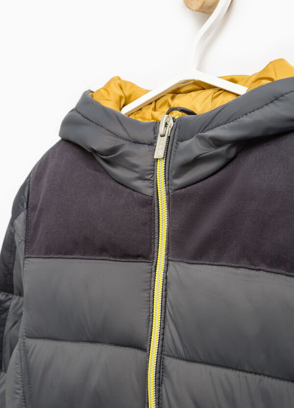 Solid colour down jacket with hood | OVS