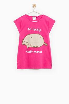 Pusheen the cat T-shirt, Fuchsia, hi-res