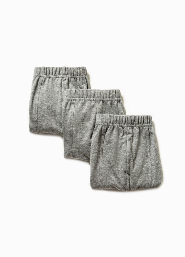 Three-pack solid colour 100% cotton boxer shorts | OVS