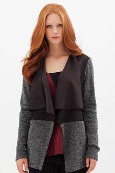 Curvyglam cardigan with inserts, Grey, hi-res