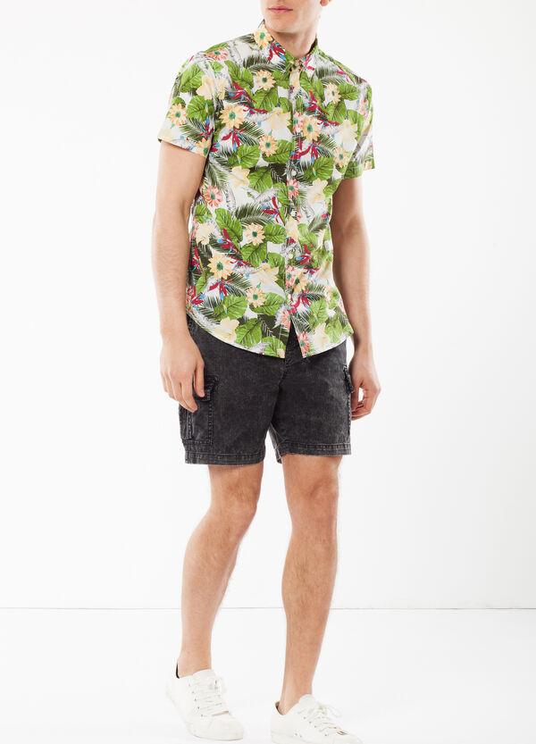 Camicia in popeline floreale   OVS