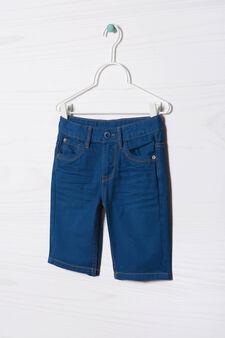 Five-pocket solid colour Bermuda shorts, Royal Blue, hi-res