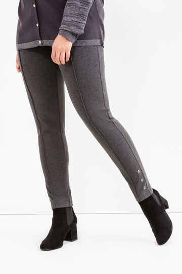 Leggings stretch con borchie Curvy, Grigio antracite, hi-res