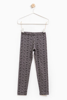 Stretch leggings with all-over print, Dark Grey, hi-res