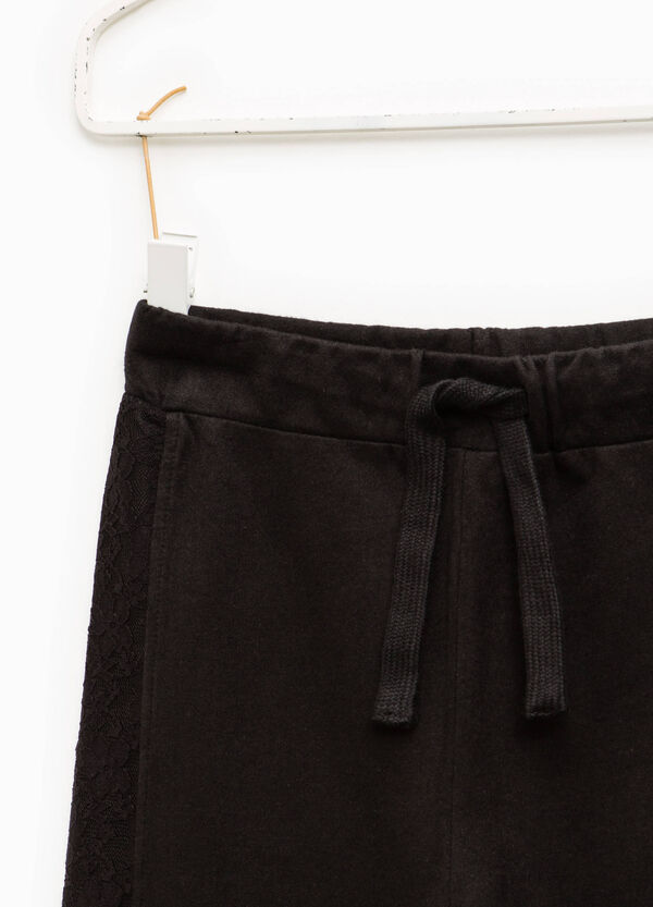 Cotton gym pants with lace | OVS