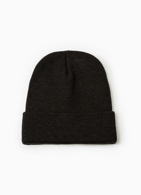 Ribbed beanie cap with turn-up brim | OVS