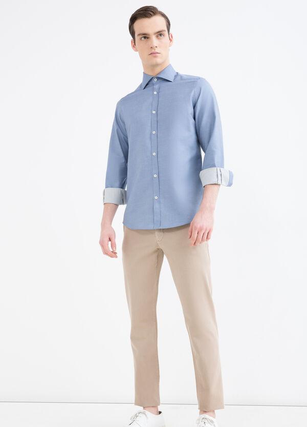 Solid colour slim-fit shirt   OVS