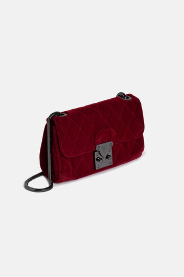 Velvet clutch bag, Red, hi-res