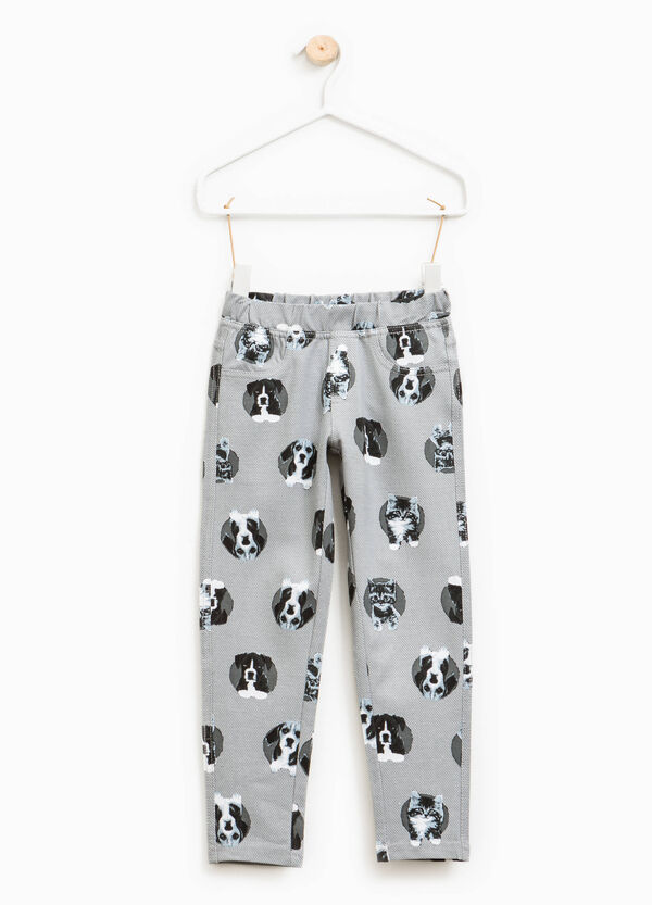 Stretch jeggings with animal pattern | OVS